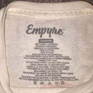Empyre Shirts - white EMPYRE bird logo tee